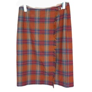 Vintage wrap around tartan plaid skirt size 9/10